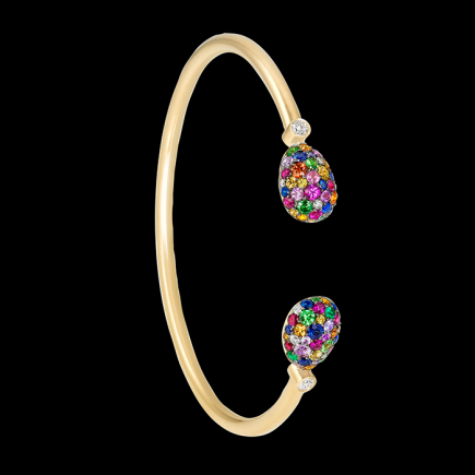 Fabergé - FABERGE EMOTION MULTI-COLOURED OPEN-SET BANGLE