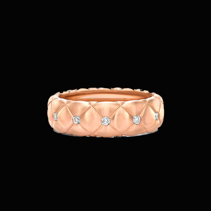 Fabergé - Fabergé Treillage Brushed Rose Gold  Diamond Set Ring 452rg837