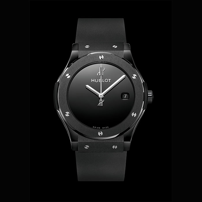 hublot - HUBLOT CLASSIC FUSION 40 YEARS ANNIVERSARY BLACK CERAMIC 45MM 511.CX.1270.RX.MDM40