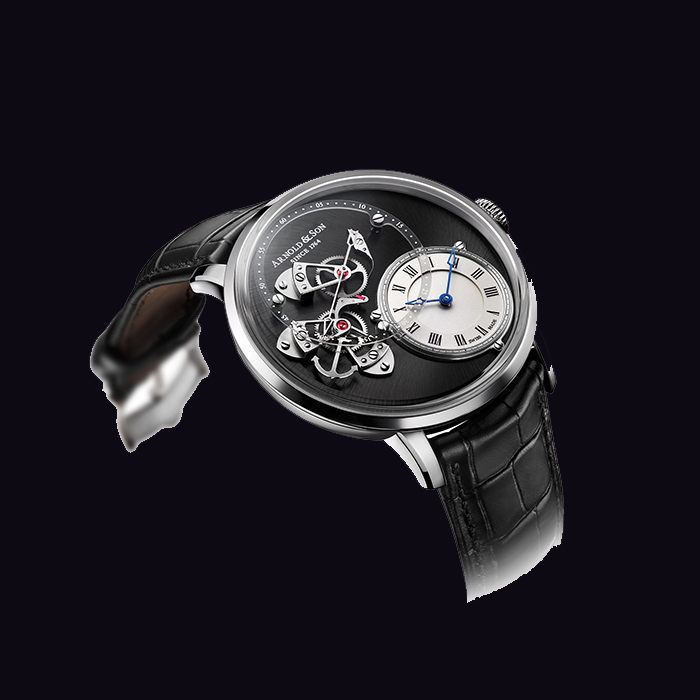 Arnold & Son - Arnold & Son DSTB (Dial Side True Beat)  stainless steel 1ATAS.S02A.C121S