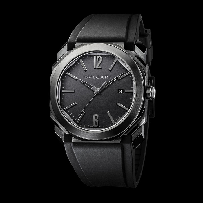 Bulgari - Octo Ultranero Stainless steel  DLC 102737