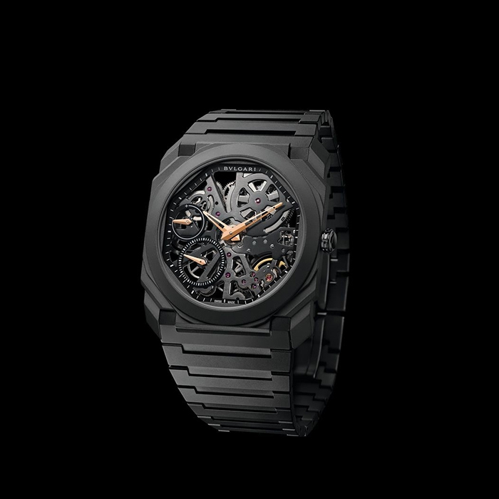 Bulgari - Bulgari Octo All Black Openwork