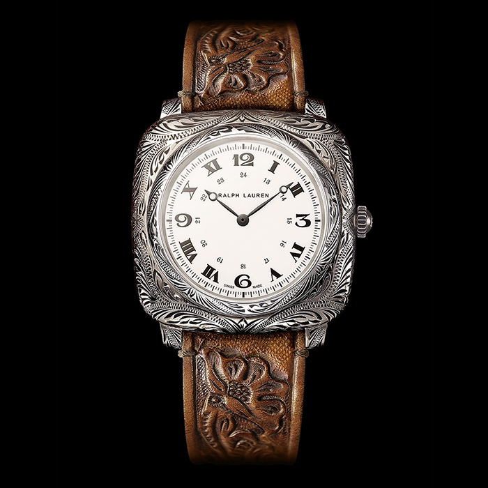 Ralph Lauren - Ralph Lauren Western Collection Cushion Model 42mm - Engraved Sterling Silver RLR919700