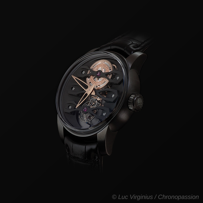 girard perregaux - Girard-Perregaux Neo-Tourbillon  with Three Bridges and DLC titanium case
