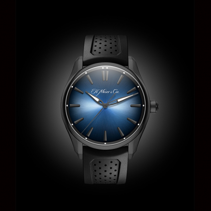 H Moser & Cie - H. Moser & Cie THE PIONEER Centre Seconds Funky Blue Black Edition