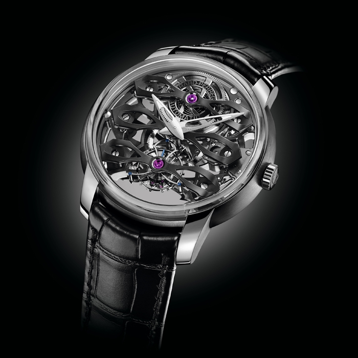 girard perregaux - GIRARD-PERREGAUX NEO TOURBILLON WITH THREE BRIDGES SKELETON