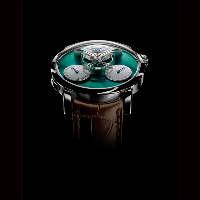 MB&F - MB&F legacy Machine Split Escapement Titanium Cadran Vert