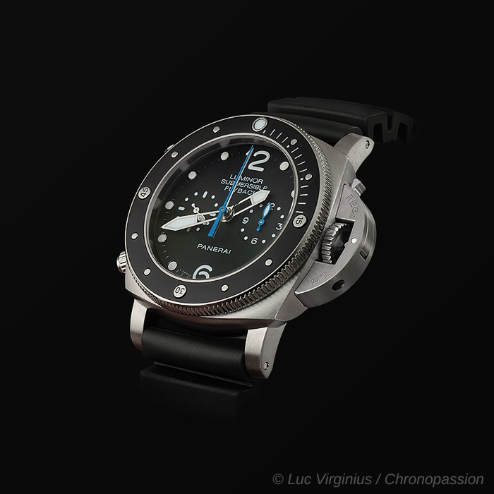 officine panerai  - PANERAI SUBMERSIBLE FLYBACK PAM00615