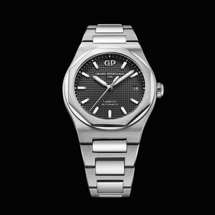 girard perregaux - GIRAD PERREGAUX,, LAUREATO stainless steel 38MM 81005-11-632-11A