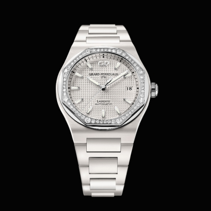 girard perregaux - GIRARD PERREGAUX, LAUREATO 38MM CERAMIC DIAMONDS 81005D82A732-32A