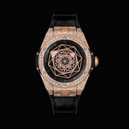 hublot - BIG BANG ONE CLICK SANG BLEU KING GOLD PAVÉ 39MM