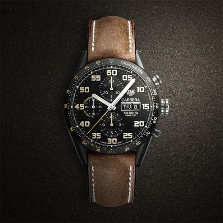 Tag Heuer - TAG Heuer Carrera Calibre 16 Day-Date Chronograph Black Titanium