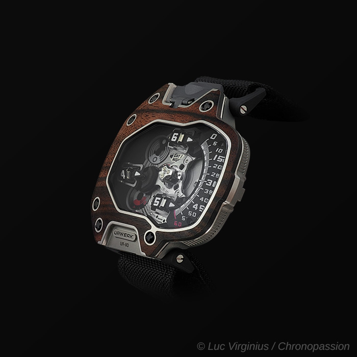"urwerk - The UR-110 ""EastWood"" Indonesian Macassar ebony  by URWERK"